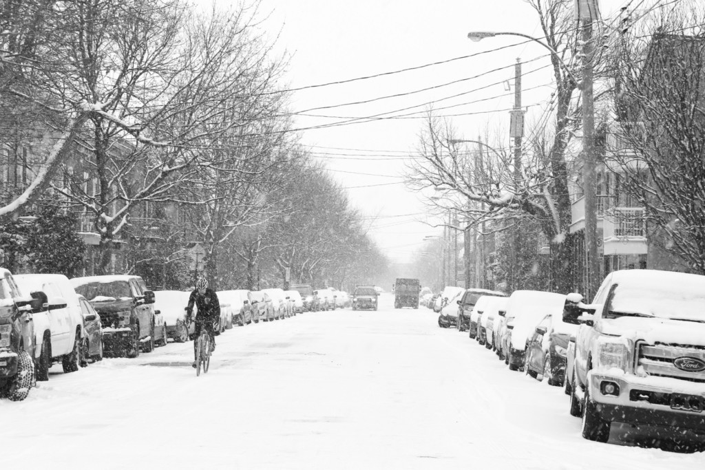 Winter Cyclist in Montreal