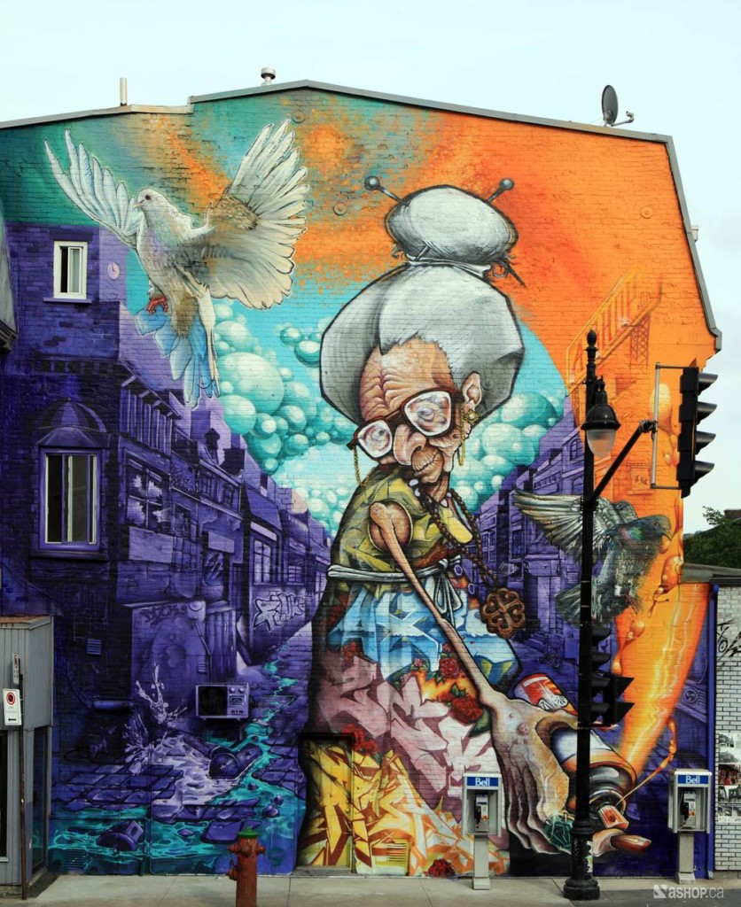 Granny - Mural Festival. Photo credit: A' SHOP